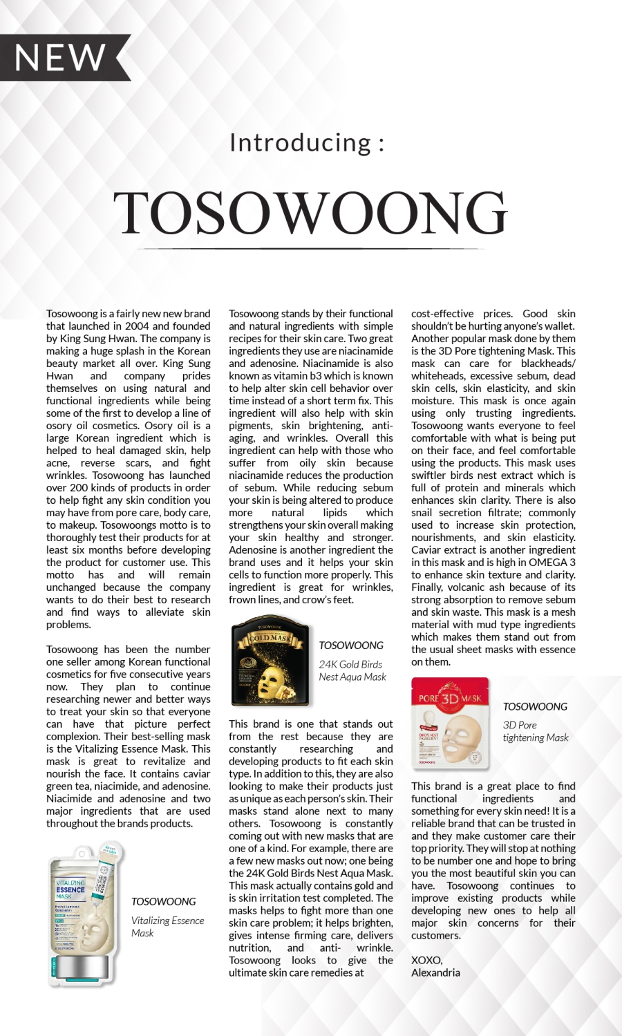 NewsletterV5_5. Introducing Tosowoong